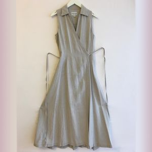 Emanuel Ungaro Linen Full Length Sleeveless Dress